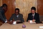 Ministro Exmo. Sr. Pastor Micha e Diretor-Executivo do IILP, Gilvan Müller de Oliveira