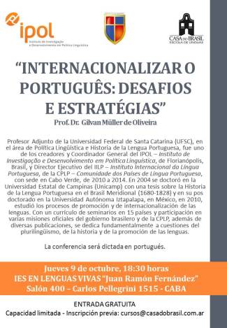 INTERNACIONALIZAR O PORTUGUÊS